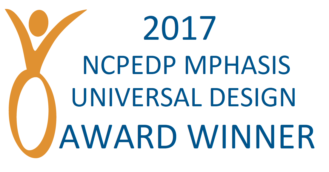 NCPEDP MPHASIS Universal Design Award Winner 2017